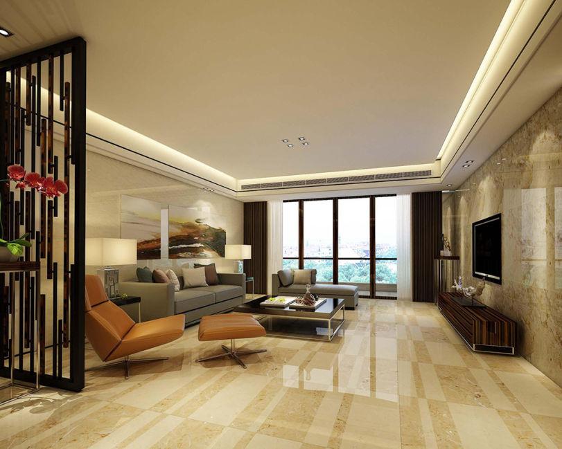 现代风格客厅瓷砖装修效果图