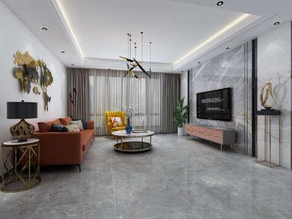 水韻藍天-D-1戶型-現代簡約客廳