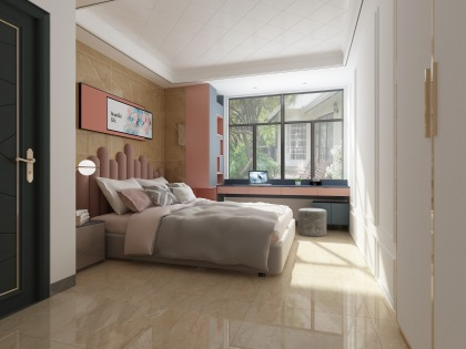 和平翰林公館平層標準層E1戶型 臥室