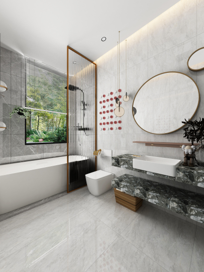 廣廈昆侖璽157㎡戶型現代衛浴