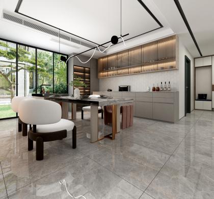 廣廈昆侖璽157㎡戶型現代廚房